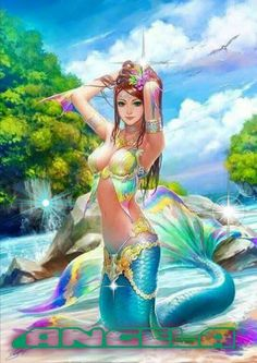 I love all fantasy and mythical stuff, but my favorite ones are mermaids.So this is a collection of mermaid images I've been picking all over the internet. Let it be clear that I haven't drawn any of them! Fantasy Girl, Chica Fantasy, Fantasy Mermaids, Mermaids And Mermen, Art And Illustration, Mermaid Illustration, Anime Mermaid, Mermaid Art, Mermaid Pics