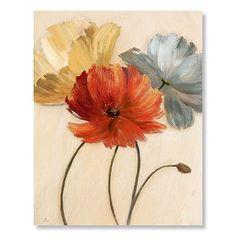 Poppy Palette I Canvas Wall Art by Nan