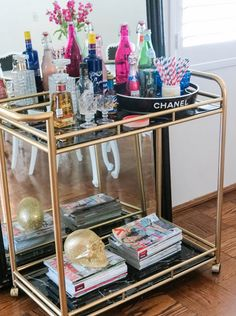15 Things Every Fashion Girl Has In Her Home | 4. The Ultimate Bar Cart.