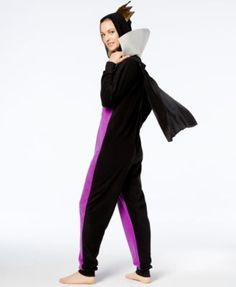 Briefly Stated Evil Queen Hooded Union Suit Jumpsuit - Purple XL