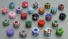 Peyote Hexagon Beaded Bead