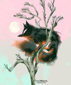Creatures and trees on Behance