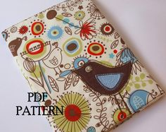 Journal Cover PDF Pattern  'Little Bird' by TheMinersWife on Etsy