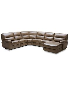 Nicolo 5 Piece Leather Reclining Sectional Sofa (2 Power Recliner Chairs,  Power Recliner Armless Chair, Armless Chair And Corner Unit) | Pinterest ...
