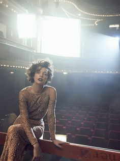 Hey girl....Milla Jovovich Gets Political in Haute Couture for Peter Lindberghs Vogue Italia Shoot