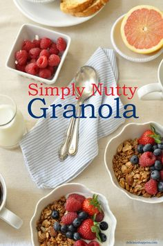 THE BEST NUTTY GRANOLA EVER!!  GREAT WITH YOGURT (ESPECIALLY FROZEN) OR PLAIN RIGHT OUT OF A BOWL