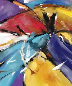 L'aigle et les colombes (Abstract 1510) (Arts numériques) par Patric Mouth Peinture digitale abstraite - Abstract digital painting.