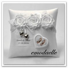 Personalized wedding ring cushion pillow with rings holder box 30 color Wedding Ring Cushion, Wedding Pillows, Cushion Ring, Cushion Pillow, Ring Bearer Pillows, Ring Pillows, Wedding Cards Handmade, Personalized Wedding, Ring Holder Wedding