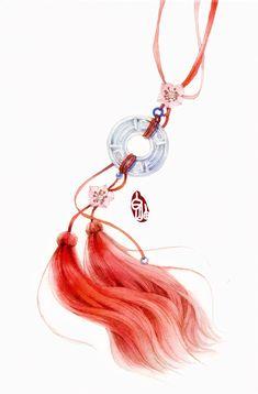 Fantasy Jewelry, Fantasy Art, Japon Illustration, Jewelry Drawing, China Art, Fantasy Weapons, Jolie Photo, Anime Angel, Art Reference Poses