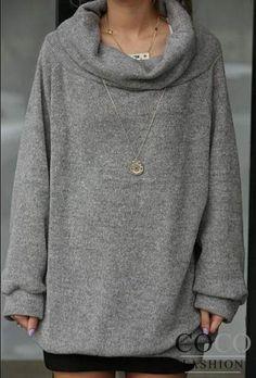 loose turtleneck sweater - Cerca con Google