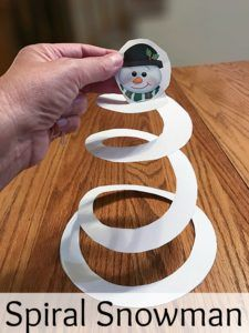 Get your free printable for this super easy spiral snowman craft.