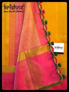 Best Bridal Wedding Tassel Kuchu from Krishne Tassels Saree Tassels Designs, Saree Kuchu Designs, Kurti Neck Designs, Bridal Sarees South Indian, Bridal Silk Saree, Indian Bridal, Hand Embroidery Patterns Free, Saree Wearing, Designer Anarkali Dresses