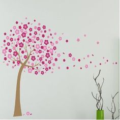 Jm Home Products - Blossoming Flower Tree Wall - Perfect for Nursery or Girl's Bedroom