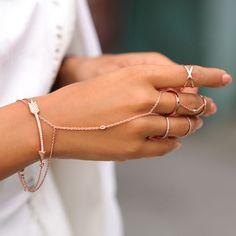 Tendência anel pulseira