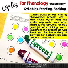 NO PREP, easy-to-understand instructions for the cycles approach. Complete set of tools.