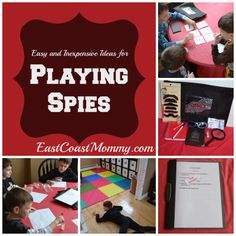 Playing Spies... including free printables