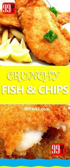 Best fish chips, like the ones you find in Britain. This is a more lavish version with Parmesan cheese, paprika, garlic powder. Fish Recipes, Seafood Recipes, Appetizer Recipes, New Recipes, Fish Dishes, Main Dishes, Beer Batter Recipe, Cookbook Recipes, Cooking Recipes