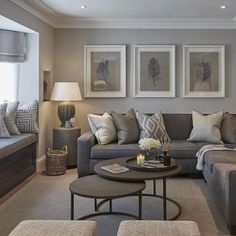 modern grey and tan living room #ModernHomeDecorIdeas