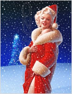 Merry Christmas;  Marilyn Monroe Art!