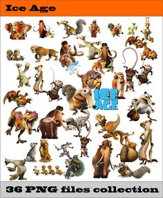 Ice Age PNG Vector Instant Download PNG Disney Clipart Digital Albums Magnets Collage Greeting Cards Sticker Printable Party Items by SlavGraphics on Etsy