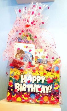 Retro Candy Basket Retro Candy, Lets Celebrate, Gift Baskets, Customized Gifts, Gift Wrapping, Happy, Personalized Gifts, Gift Wrapping Paper, Personalised Gifts