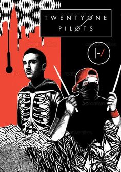 TWENTY ONE PILOTS Poster by lexie1899 on CreativeAllies.com