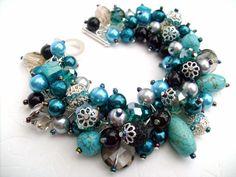 Chunky Charm Bracelet. #charms #bracelet #etsy