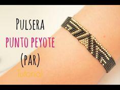 Cómo hacer una pulsera con punto peyote PAR (delicas miyuki) #36 - YouTube Making Bracelets With Beads, Jewelry Making, Beaded Jewelry, Beaded Bracelets, Peyote Patterns, Beading Tutorials, Loom Beading, Seed Beads, Molde