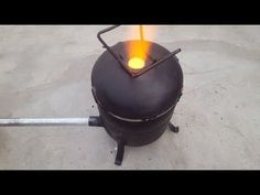 Make a Simple Metal Foundry Using Empty Gas Cylinder. - YouTube