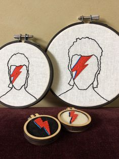 Excited to share the latest addition to my shop: David Bowie Aladdin Zane embroidery Embroidery Patches, Embroidery Hoop Art, Hand Embroidery Patterns, Beaded Embroidery, Cross Stitch Embroidery, Etsy Embroidery, David Bowie, Patch Bordado, Broderie Simple
