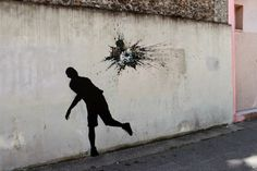 Street art by Pejac Found on the streets of Paris.