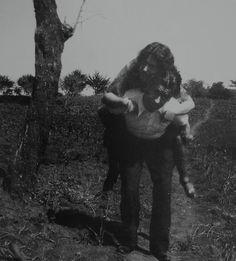Óscar Domínguez y la pianista Roma. Fotografía de Eduardo Westerdahl