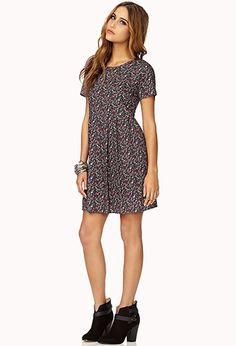 Dainty Floral Babydoll Dress | FOREVER 21 - 2000093044