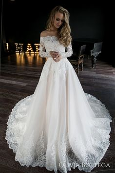 A line wedding dress Olivia by Olivia Bottega. Wedding dress off the shoulder A line wedding dress Olivia by Olivia Bottega. Wedding dress off the shoulder. Boho Wedding Dress With Sleeves, Cute Wedding Dress, Long Wedding Dresses, Long Sleeve Wedding, Bridal Dresses, Rustic Wedding Dresses, Maxi Dresses, Disney Wedding Dresses, Christmas Wedding Dresses