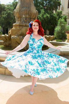 1950s Halterneck Circle Dress from Vivien of Holloway. http://www.vivienofholloway.com/women-c70/dresses-c10#t83:t63