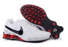 Men s Nike Shox OZ Shoes White Silver Black Red Super Deals e1d74dd9f