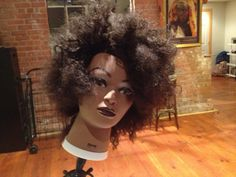 Check out one of the students #Natural Hair Mannequin