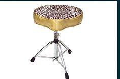 big boy gold/leapard drum throne