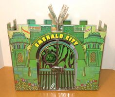 """Mego Emerald City Wizard of Oz Playset with Accessories and 8"""" Cowardly Lion #Mego"""