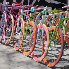 \Fixie colour rainbow Beijing #\