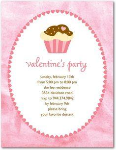 Studio Basics: Valentine's Day Party Invitations Cupcake Cheer - Front : Bloom