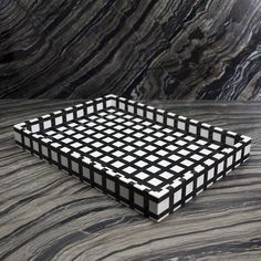 Graphic Tray by Kelly Wearstler | Ivory and Ebony Stone | U$1,895
