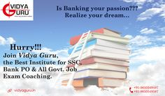 Realize your dream with #VidyaGuru, The #Bestbankcoachinginstitute in New Delhi!! Call: 9650549487  Visit: http://www.vidyaguru.in/