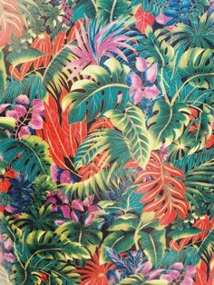 pattern, print, tropical, color,