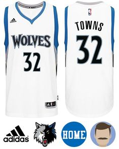 Sport this Men's Adidas Minnesota Timberwolves #32 Karl-Anthony Towns White New Swingman Home Jersey while your team are heating up the stadium. This perfect jersey is crafted after the player's on-court garment. It features screen printed the NBA team's name and the player's name and number on both