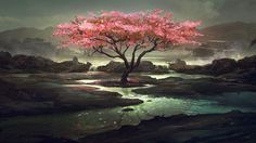 Wallpapers For > Pink Trees Wallpaper
