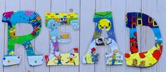 Letter Set, Letter Wall, Laminate Wall, Read Letters, Painting Wooden Letters, Teacher Signs, Alphabet Wall, Classroom Walls, Room Themes
