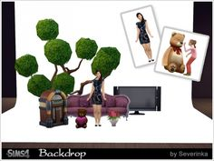 Backdrop white background for filming at Sims by Severinka • Sims 4 Updates