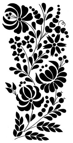 Grand Sewing Embroidery Designs At Home Ideas. Beauteous Finished Sewing Embroidery Designs At Home Ideas. Mexican Embroidery, Hungarian Embroidery, Folk Embroidery, Learn Embroidery, Embroidery Designs, Floral Embroidery Patterns, Stencil Patterns, Stencil Designs, Chain Stitch Embroidery
