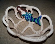 Sea Turtle Bowl braided bowl with holes
